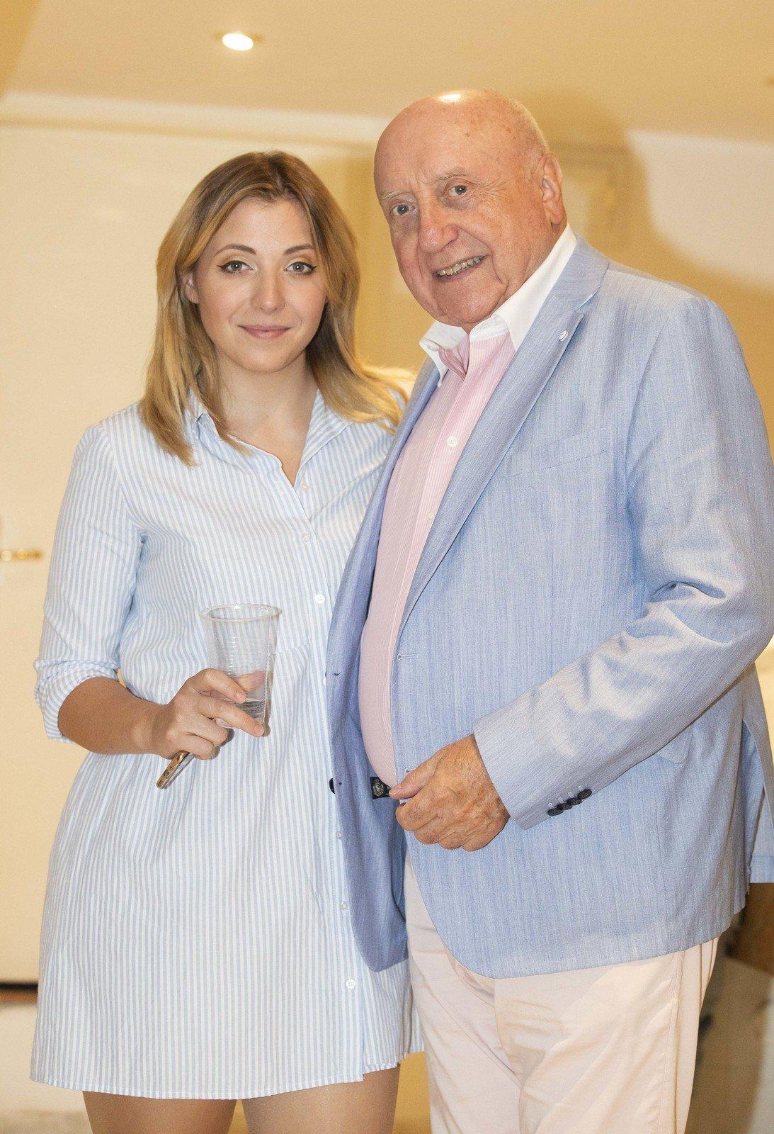 Felix Slováček s dcerou Annou Slováčkovou