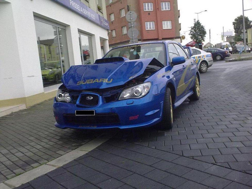 Renčův vůz, který naboural v roce 2010.