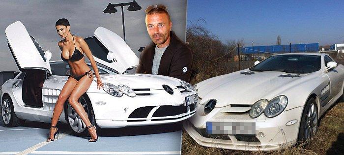 Milionová kára Tomáše Řepky, u které se fotila jeho bývalá Vlaďka Erbová, stojí na pofidérním parkovišti.