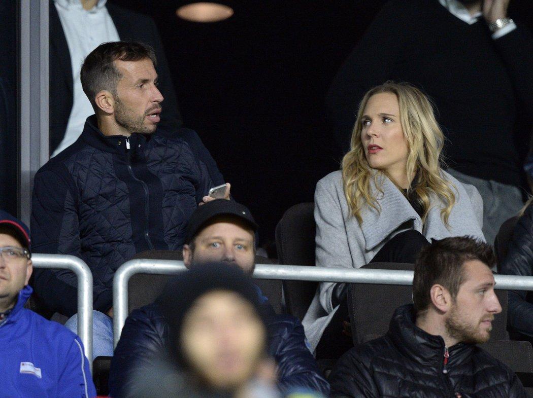 Na utkání Sparta - Baník se přišel podívat také tenista Radek Štěpánek s Nicole Vaidišovou