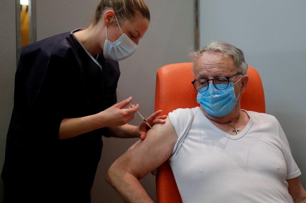 Očkování ve Francii, 29. ledna.