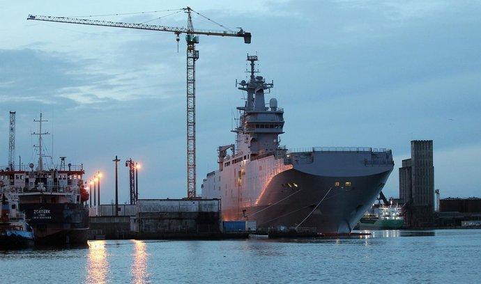 Francouzská loď Mistral nazvaná Vladivostok