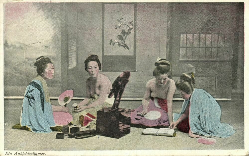 Gejši, které měly štěstí, získaly tzv. danna - patrona, který platil jejich vzdělání a oblečení.