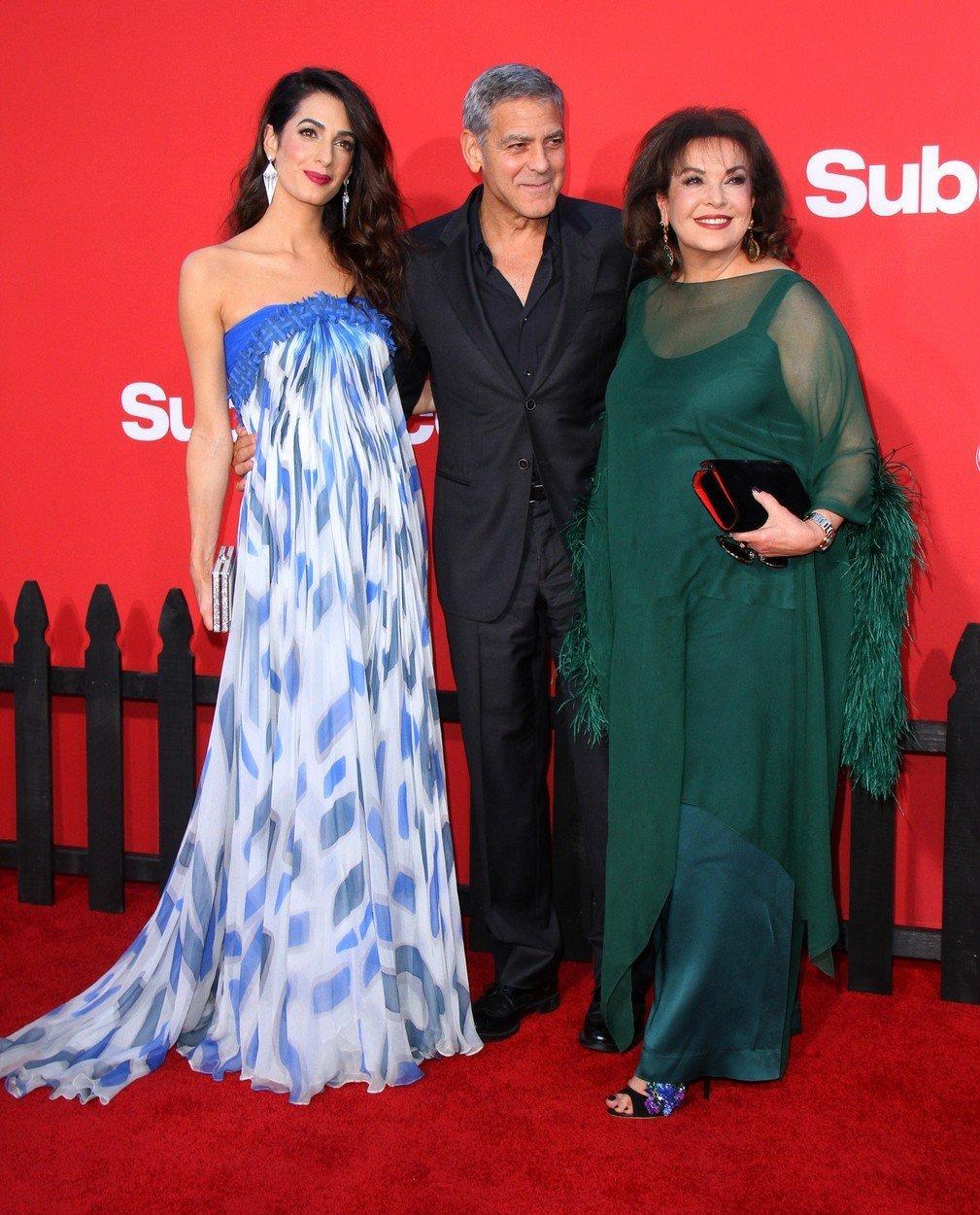 George Clooney s manželkou Amal a tchyní Bariou