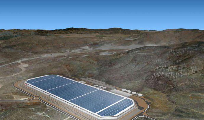 Takhle vypadá gigafactory firmy Tesla v Nevadě.