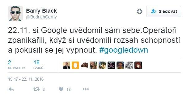 Nejvtipnější internetové reakce na výpadek Googlu v Česku