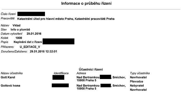 Dokument, který dokazuje, že Karel Gott rozjel převody majetku.
