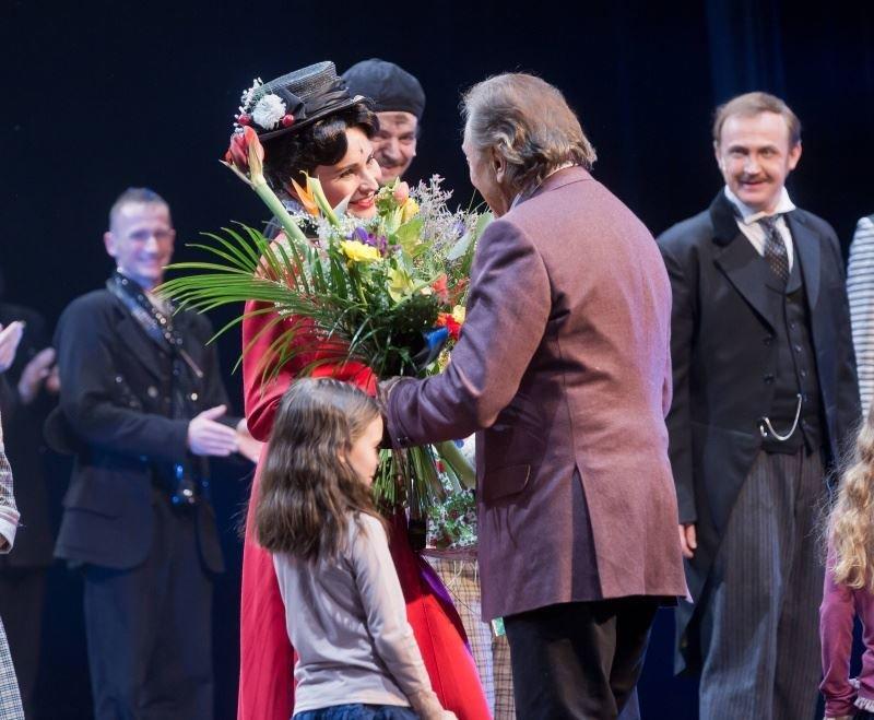 Karel Gott poděkoval Monice Absolonové za krásný zážitek.