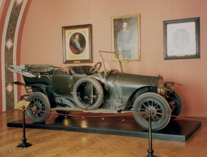 Automobil, ve kterém pravděpodobně byl zastřelen následník trůnu arcivévoda František Ferdinand d'Este