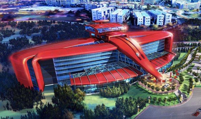 Grafický návrh připravovaného Ferrari parku