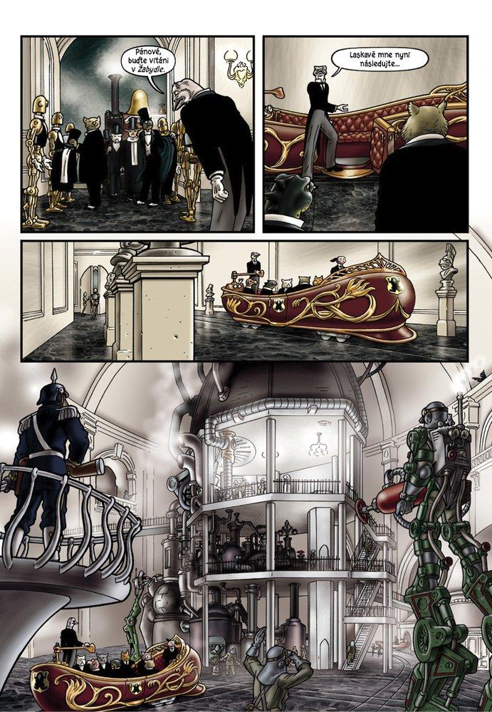 Ukázka ze třetího česky vydaného dílu komiksu Grandville