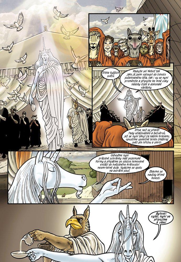 Ukázka ze čtvrtého česky vydaného dílu komiksu Grandville