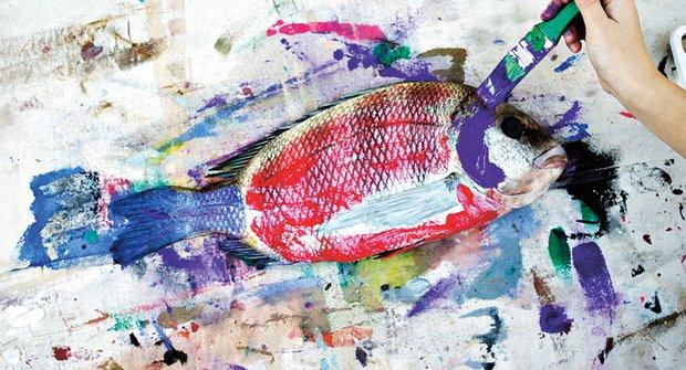 Rybáři nebo umělci? Gyotaku aneb tradiční japonské otisky ryb