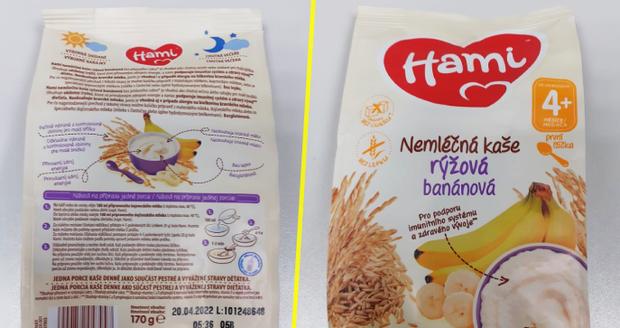 Maminky, zkontrolujte zásoby: V rýžové kaši Hami z Polska našla inspekce bakterie salmonely