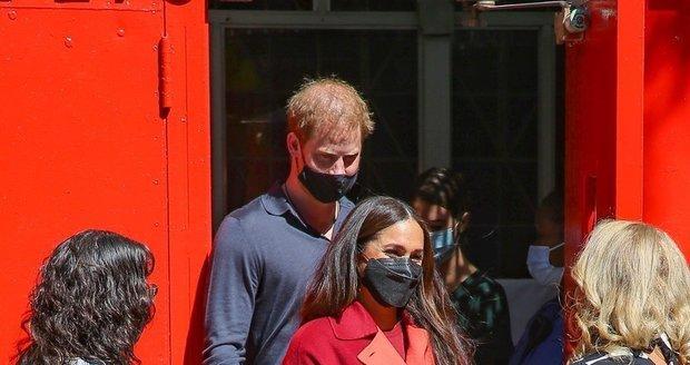 Harry a Meghan na obědě v New Yorku