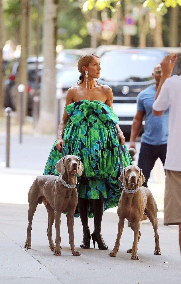 Céline Dion při focení v Paříži