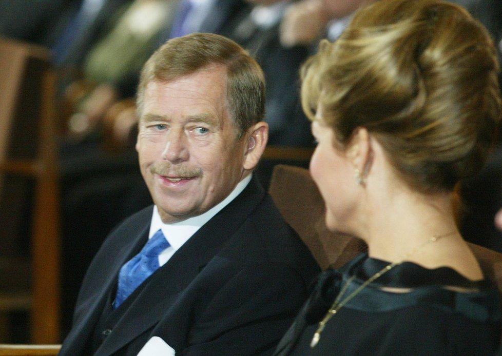 Václav Havel s manželkou Dagmar