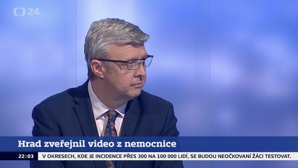 Vicepremiér Karel Havlíček (za ANO) v pořadu Události, komentáře České televize (21. 10. 2021)