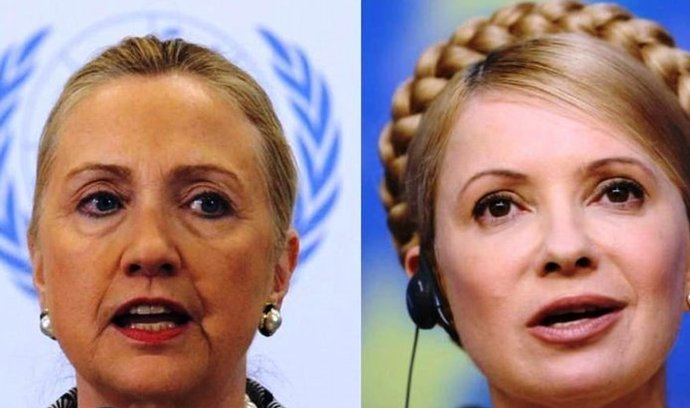 Hillary Clintonová a Julija Tymošenková