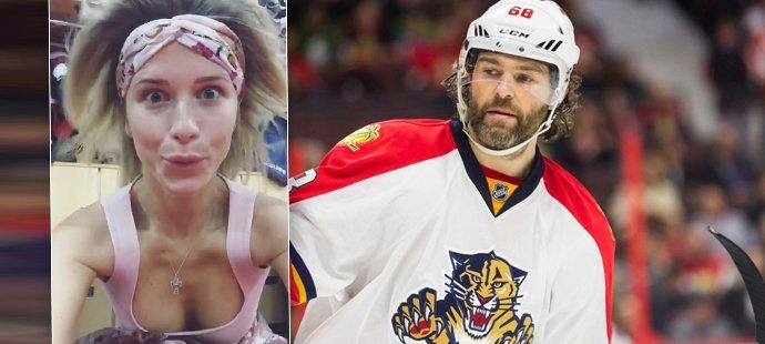 Jaromír Jágr miluje noční tréninky a svoji Veroniku. Ta mu čas od času ukáže při hokejovém zdokonalování svoje kůzlátka.