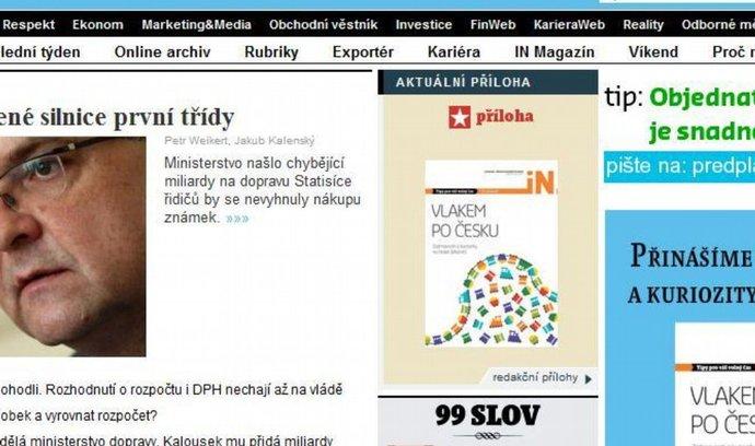 Hospodářské noviny, iHNed