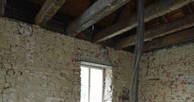 Rekonstrukční práce v hostinci U Brabců.
