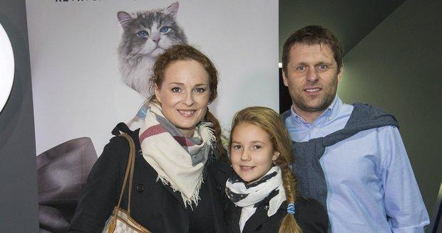 Markéta s přítelem Petrem a dcerou Christel