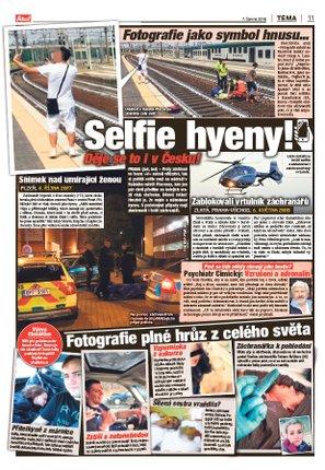 Aha! 7. června 2018 Lidí, kteří si točí či fotí mrtvé po nehodách či zdravotníky, přibývá.
