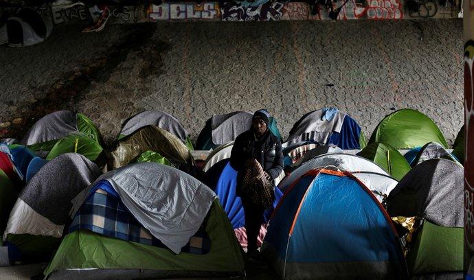 Tábořiště migrantů v Paříži