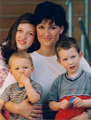 Mirka Čejková se svými dětmi