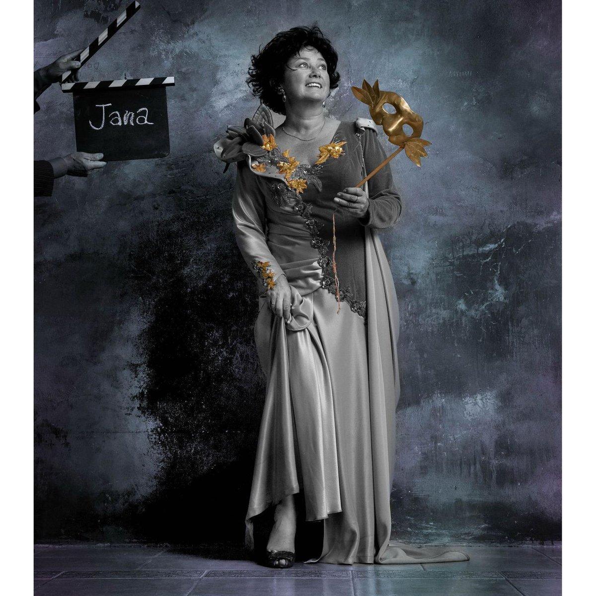 Jana Boušková se při fotografování s Janem Saudkem cítila jako v nebi.