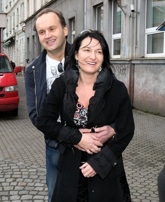 Mirka Čejková s manželem Markem Vítem.