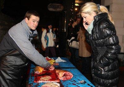 Sabina Laurinová je na krvavé výjevy zvyklá z muzikálu Jack Rozparovač.