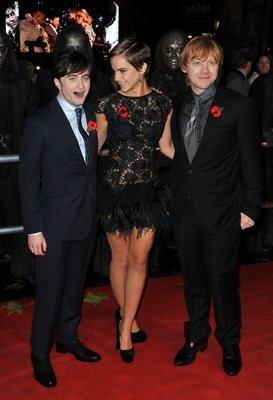 Zleva Daniel Radcliffe, Emma Watson a Rupert Grint