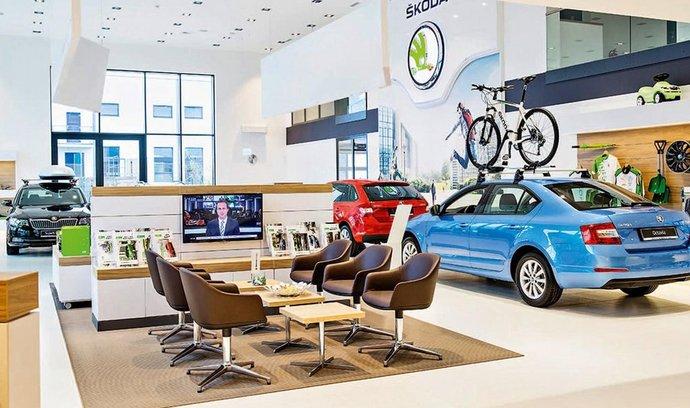 Interiér prodejny Škoda Auto
