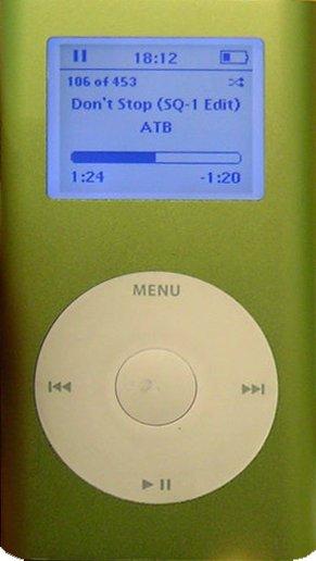 První iPod Mini. K miniatuře ještě daleko