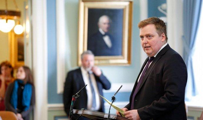 Islandský premiér Davíd Gunnlaugsson