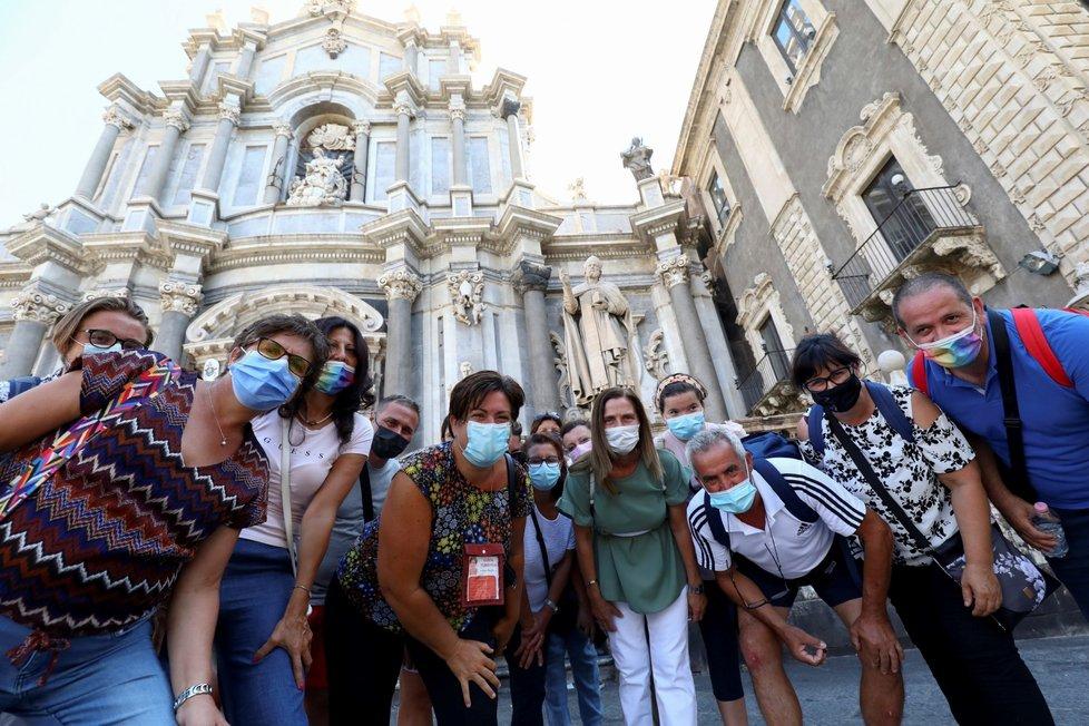 Návrat roušek na Sicílii (30. 8. 2021)
