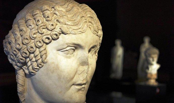 italská kultura, hlava Agrippiny, matky císaře Nera