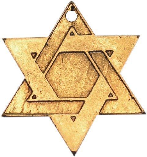 """Davidova hvězda byla za války zneužita jako cejch pro rasově """"nečisté"""" obyvatelstvo."""