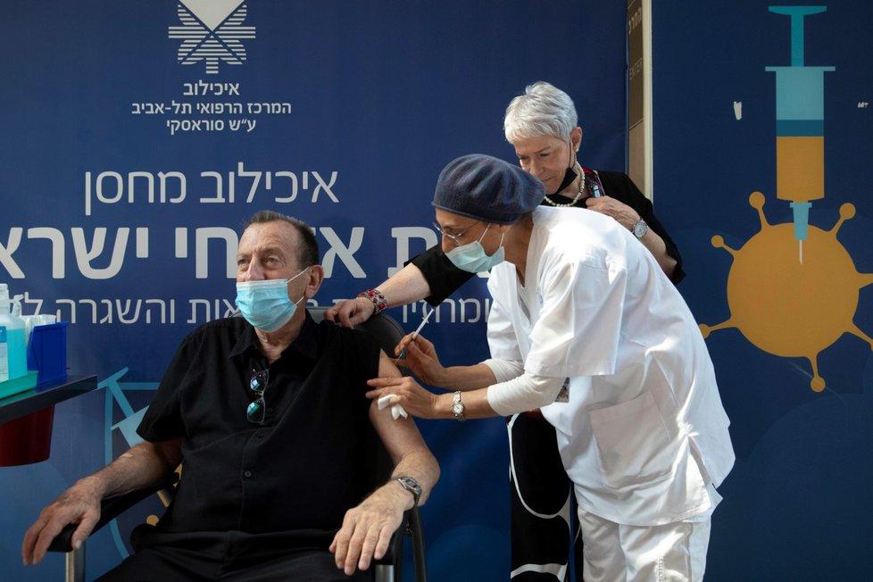 Očkování třetí dávkou v Izraeli (1. 8. 2021)