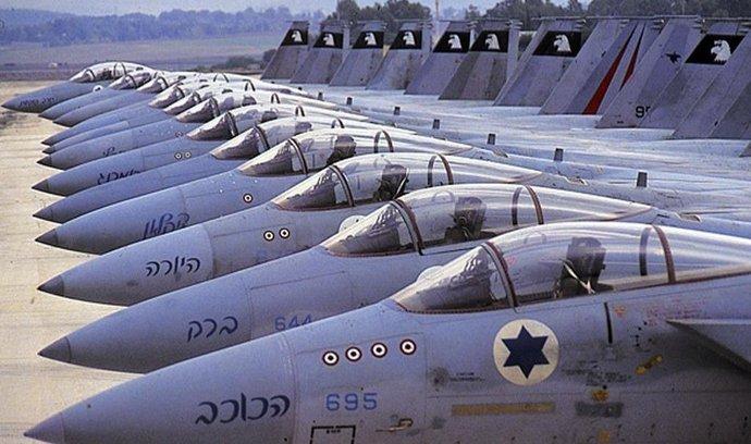 Izrael, stíhačky, ilustrační foto