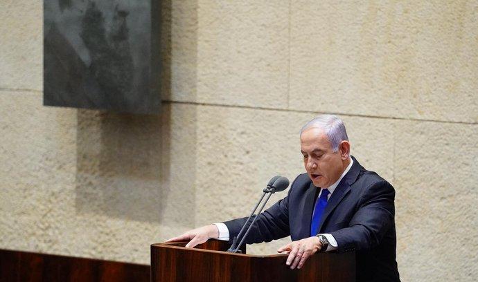 Izraelský premiér Benjamin Netanjahu oznamuje vznik vlády národní jednoty.