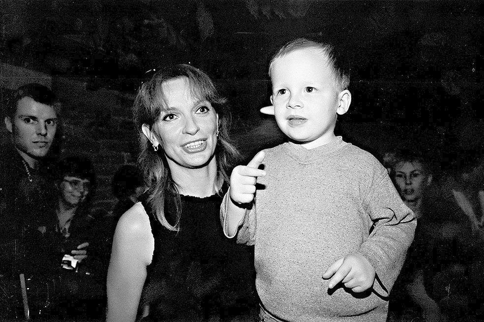 Ivana Chýlková se synem Jáchymem Krausem.