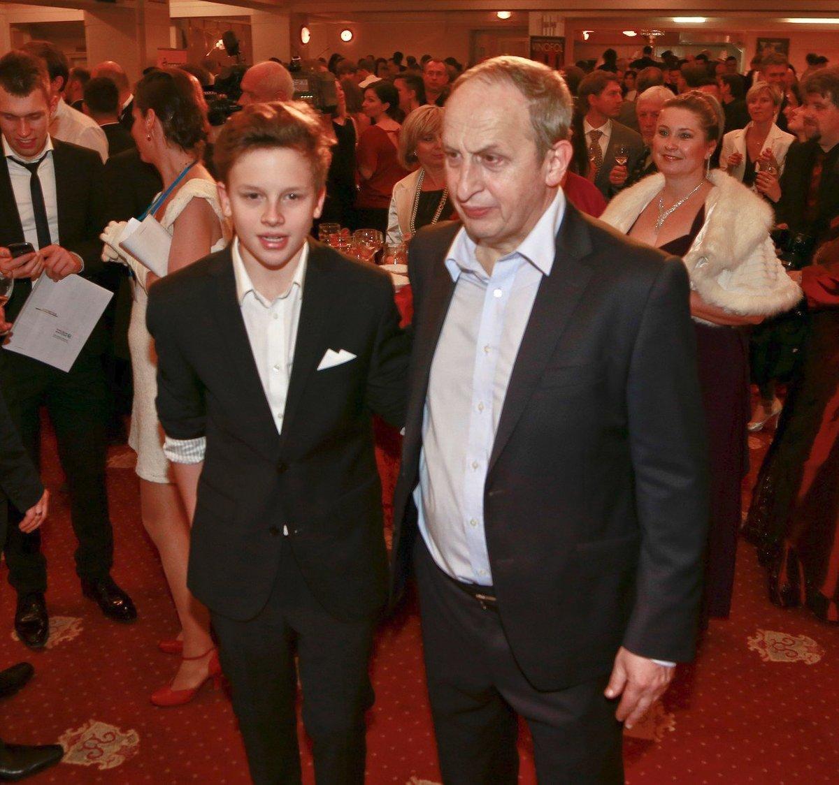 Jan Kraus s nejmladším synem Jáchymem Krausem.