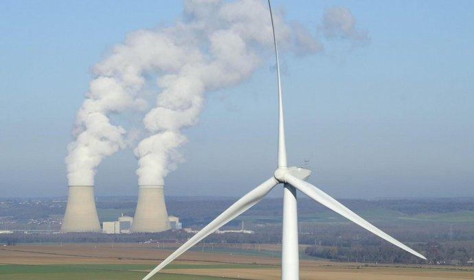 jaderná elektrárna, větrná elektrárna