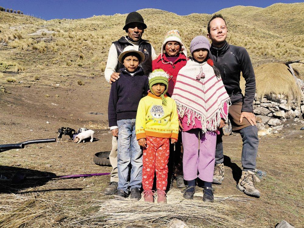 Jedna z indiánských rodinek, které jsem měl tu čest poznat (peruánské pohoří Cordillera)
