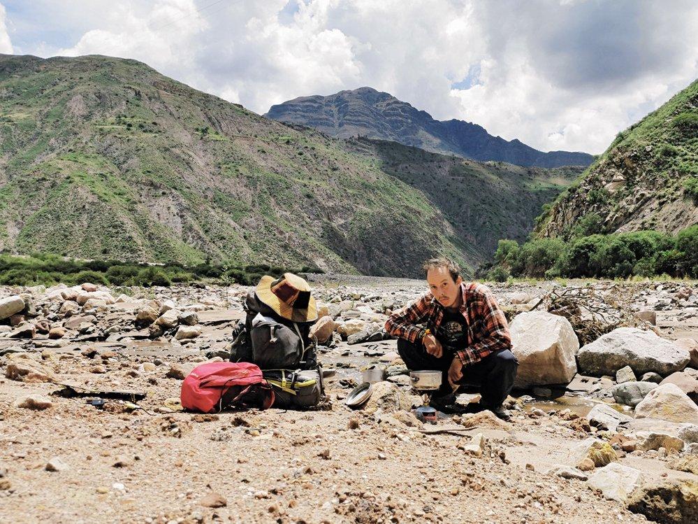 Oběd kdesi uprostřed bolivijských And