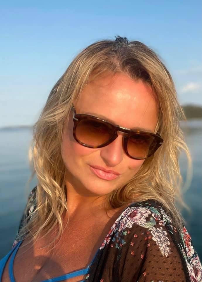 Jana Adamcová si užívá v Chorvatsku.