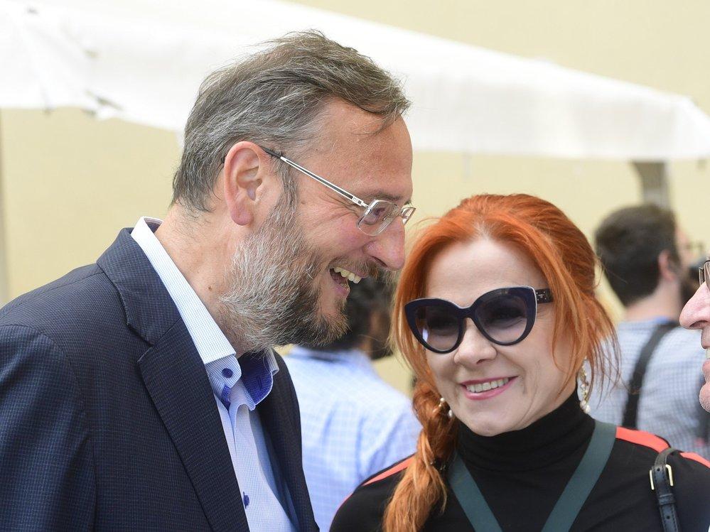 Manželé Petr a Jana Nečasovi na oslavě 80. narozenin Václava Klause (18. 6. 2021)